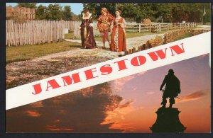 Virginia JAMESTOWN - SplitView Scenes Statue of Capt. John Smith - Chrome