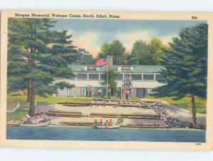 Unused Linen CAMP SCENE South Athol Massachusetts MA c3690