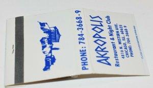 Akropolis Restaurant & Night Club Chicago Illinois 30 Strike Matchbook
