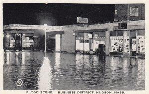 HUDSON , Mass. , 1910-30s Business District under flood