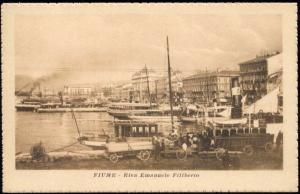 croatia, FIUME RIJEKA, Riva Emanuele Filiberto (1920s)