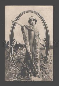 084555 OTERO Spanish DANCER Art Nouveau ALPHABET Vintage PHOTO