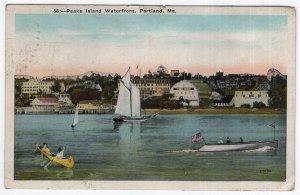 Portland, Me, Peaks Island Waterfront