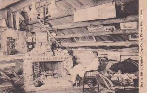 Illinois Princeville Den In Loft Of Cutters Log Cabin