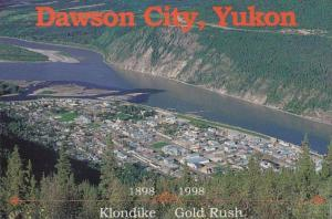 Canada Yukon Dawson City Aerial View 1987