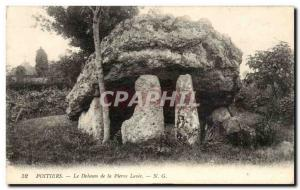 Postcard Old Megalith Dolmen Poitiers dolmen stone levee