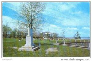 Park Scene in Beauharnois, Province of Quebec, Canada, chrome