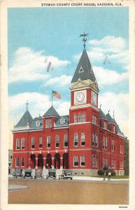 D46/ Gadsden Alabama AL Postcard 1943 Etowah County Court House