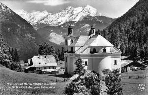 Wallfahrtsort Maria Kirchental bei St. Martin Lofer gegen Reiter Alpe Berg