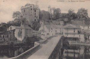 CLISSON, France,1910-1920s, Les Ruines du Chateau