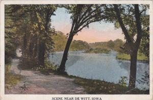 Iowa River Scene Near De Witt