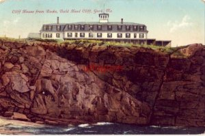 CLIFF HOUSE FROM ROCKS, BALD HEAD CLIFF. YORK, ME 1910