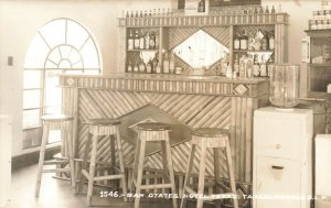 Mexico Bar Otates Hotel Texas and Courts Real Photo Postcard
