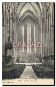 Old Postcard Toul Cathedral Interior