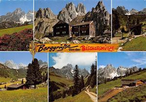 Berggruesse von der Bischofsmuetze Oberhofalm Cabin