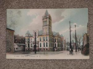City Hall, Cohoes, N.Y., 1912, used vintage card