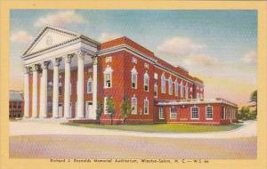 North Carolina Winston Salem Richard J Reynolds Memorial Auditorium