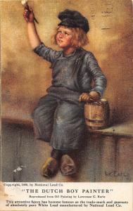 C26/ Advertising Ad Postcard c1910 Barnesville Ohio Dutch Boy Painter PAINT 32