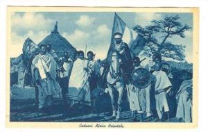 Tribal men, one on horse, Costumi Africa Orientale, 00-10s