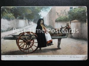 c1909 - Scenes from Irish Life Miss Aileen Mac Carthy & her private ass & cart