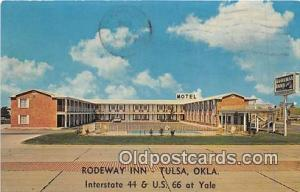 Route 66 Postcard Tulsa, OK, USA Rodeway Inn