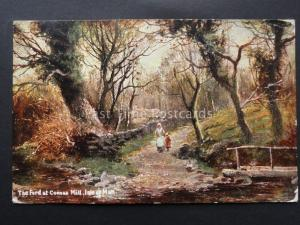 Isle of Man THE FORD AT COONAA c1907 by S Hildesheimer & Co 5406
