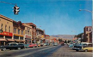 Street Scene in Montpelier Idaho ID Chrome
