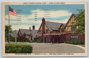 Postcard IL Wheeling Chevy Chase Country Club Buddy Laine Orchestra Linen G24
