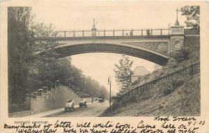 Highgate Archway bridge road scene 1903 UK