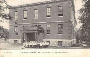 Millersville PA~State Normal~The Model School~Children Out Front~Aunt Clara~1909