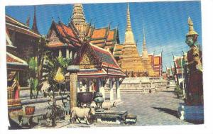 The Temple of the Emerald Buddha in Bangkok, Thailand, 40-60s