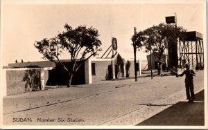 Sudan Number Six Station Postcard unused 1920s RPPC