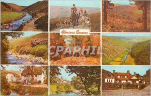 Modern Postcard Greetings from Exmoor Glorious Exmor Hunting
