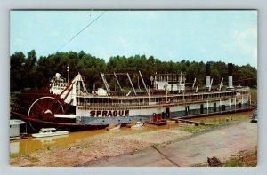 Vicksburg MS-Mississippi, The Showboat Sprague, Chrome Postcard