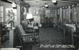 Marcell MN Cedar Point Lodge North Star Lake Real Photo Postcard