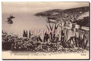 Old Postcard Villefranche La Rade and the City Charter