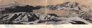 Japan Old Vintage Antique Post Card National Park Hakone Double postcard atta...