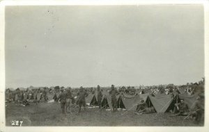 RPPC Postcard U.S. Occupation of Archangel Russian Revolution American Bivouac