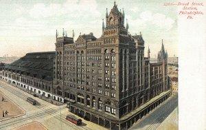 Broad Street Train Station, Philadelphia, Pennsylvania, Early Postcard, Unused