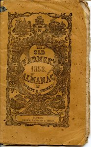 The Old Farmers' Almanac (Robert B Thomas)-1858 (8.25 X 5.25)48pp, stringbound