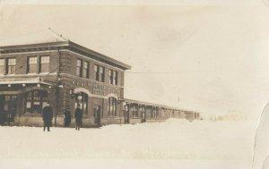 RP: ABERDEEN , Washington , 1916 ; Union Railroad Train Station in Winter