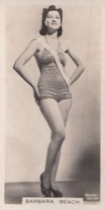 Barbara Beach Hollywood Actress Rare Real Photo Cigarette Card