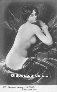 Russian Nude Postcard Artist Albert Penot Unused