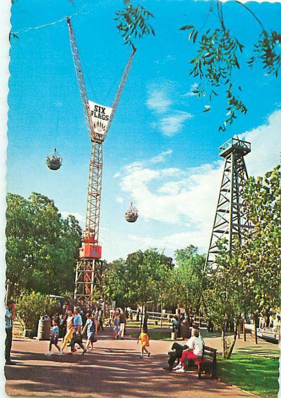 Six Flags Texas Sky Hook Ride 200 Ft High Dallas Fort Worth