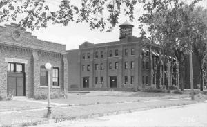 Red Oak Iowa~Thomas D Murphy Co~Art Calenders~Power Plant~1930s RPPC Postcard