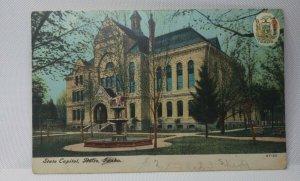 Vintage State Capital, Boise, Idaho Postcard Capital Building Dated 1907 USED!