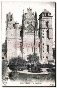 Rodez - The Cathedral - Old Postcard