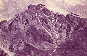 BANFF , Alberta , Canada , 40-60s ; Mountain Lines