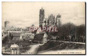 Old Postcard From Rodez Cathedrale