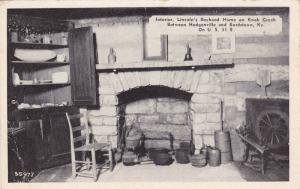 Interior, Lincoln's Boyhood Home On Knob Creek, Between Hodgenville & Bordsto...